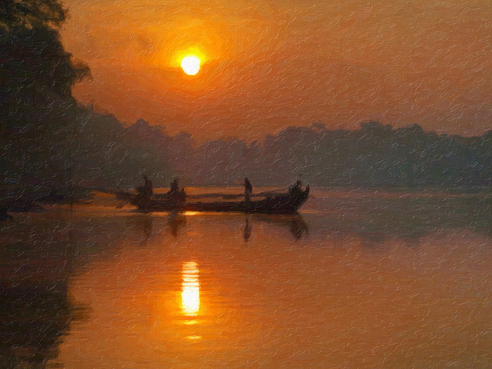Photo Artwork - Perahu Tambangan, Bengawan Solo