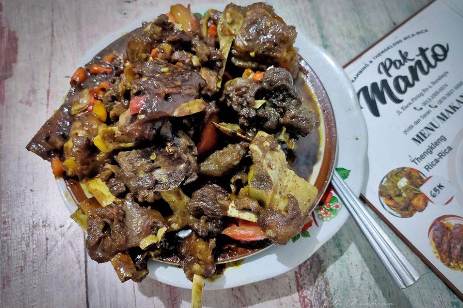 Warung Sate dan Tengkleng Rica-Rica Pak Manto Surabaya