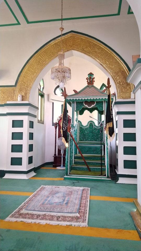 Mimbar Masjid Raya Syahabuddin Kabupaten Siak, Provinsi Riau