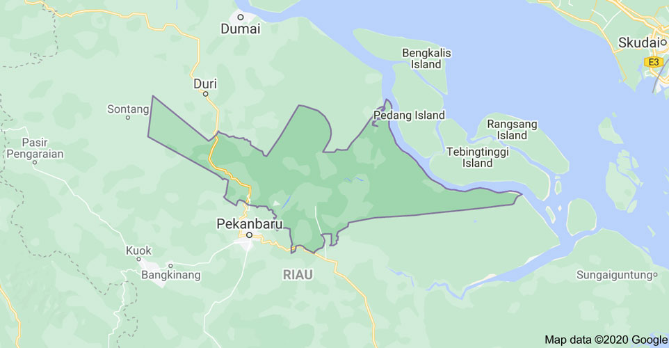 Peta Kabupaten Siak, Provinsi Riau