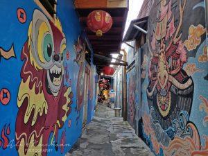 Perayaan Imlek Kampung Tambak Bayan Surabaya dengan Warna-warni Mural, Tanpa Barongsai dan Angpao